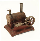 Toy steam engine Stock Photo