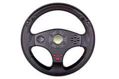 Toy steering wheel. Isolated on white Royalty Free Stock Photo