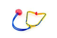 Toy stethoscope. Isolated on white background royalty free stock image