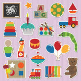 Toy stickers Royalty Free Stock Photography