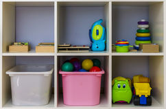 Toy Storage Shelf Arkivbilder