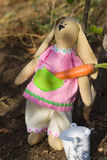Toy stores Bunny carrots for the winter Royalty Free Stock Photography