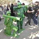Toy Story żołnierzy cosplayer przy Lucca komiczkami 2014 i grami zdjęcie royalty free