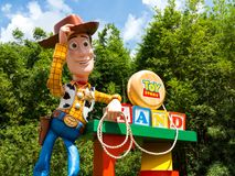 Toy Story Land. ORLANDO, FLORIDA � July 1st, 2018 � Toy Story Land in Hollywood Studios, Walt Disney World, grand opening June 30th 2018 stock image