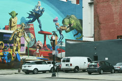 Toy Story Mural imagens de stock royalty free