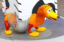 Toy story pet dog character slinky on display in hong kong  stock images