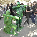 Toy Story's soldiers cosplayer at Lucca Comics and Games 2014 Royalty Free Stock Photo