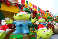 Toy Story-Weihnachtsdekorationen in Hong Kong Stockfoto