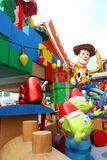 Toy Story-Weihnachtsdekorationen in Hong Kong stockbild