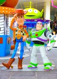 Toy story woody and buzz lightyear on display in hong kong stock photo