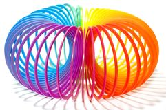 Toy stretched spring Royalty Free Stock Photography