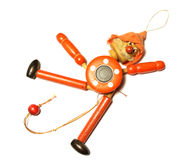 Toy Strong Pull Clown de madera Imagenes de archivo