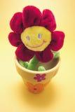 Toy Sunflower i kruka royaltyfria foton