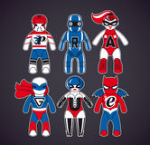 Toy superheroes Stock Photo