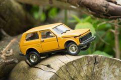 Toy SUV Off-road Royalty Free Stock Photo