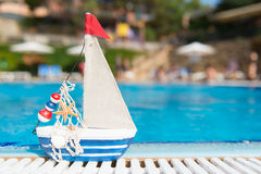 Toy at swimming pool Royalty Free Stock Photo