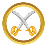 Toy swords vector icon Stock Photo