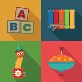 Toy symbols Royalty Free Stock Photography