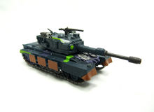 Toy tank. Isolated toy tank on white Royalty Free Stock Images