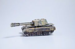 Toy tank. For children activity Stock Photos