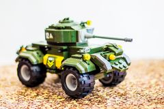 Toy tank - a great gift for the boy on his birthday_ stock photography