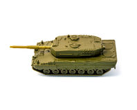 Toy tank isolated on white background. Photo of toy tank isolated on white background Stock Images