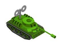 Toy Tank Isometric su fondo bianco royalty illustrazione gratis