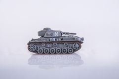 Toy tank. An old plastic toy tank Royalty Free Stock Photos