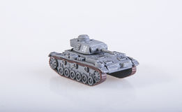 Toy tank. An old plastic toy tank Royalty Free Stock Photo