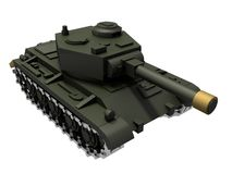 Toy tank render. Toy tank 3d render on white Stock Images