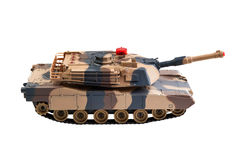 Toy tank on white Stock Images