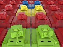 Toy tanks illustration Stock Photography