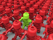 Toy target in crowd concept Royalty Free Stock Photo