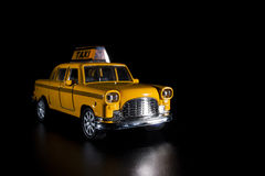 Toy taxi car. Royalty Free Stock Photos