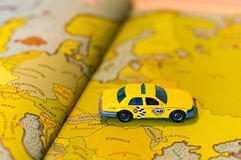 Toy taxi stock images