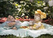 Toy Tea Party Royaltyfria Foton
