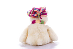 Toy teddy bear from back Royalty Free Stock Image