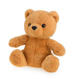 Toy teddy bear isolated on white Royalty Free Stock Photo