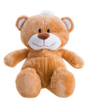 Toy teddy bear. Isolated on white stock images