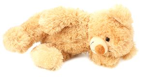 Toy teddy bear isolated on white background stock photos