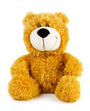 Toy teddy bear. Isolated on white background royalty free stock photos