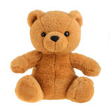 Toy teddy bear isolated on white, cutout Stock Photos