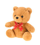 Toy teddy bear isolated on white, without shadow. Stock Photography