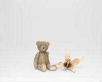 Toy teddy bear with flower Stock Photography