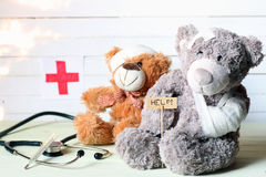 Toy teddy doctor stock photography