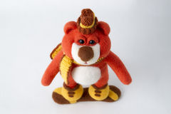 Toy teddy in a gift Stock Images