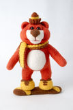 Toy teddy in a gift Royalty Free Stock Photo