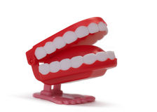 Toy teeth. Isolated on white background stock images