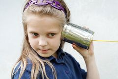 Toy- telephone Stock Image