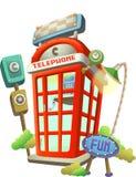 Toy Telephone Booth Imagen de archivo libre de regalías